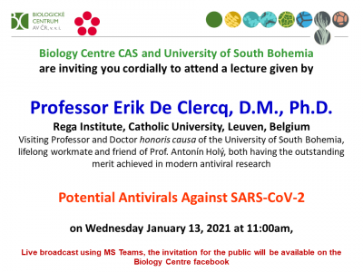 Traditional New Year's lecture of Professor Erik DeClercq